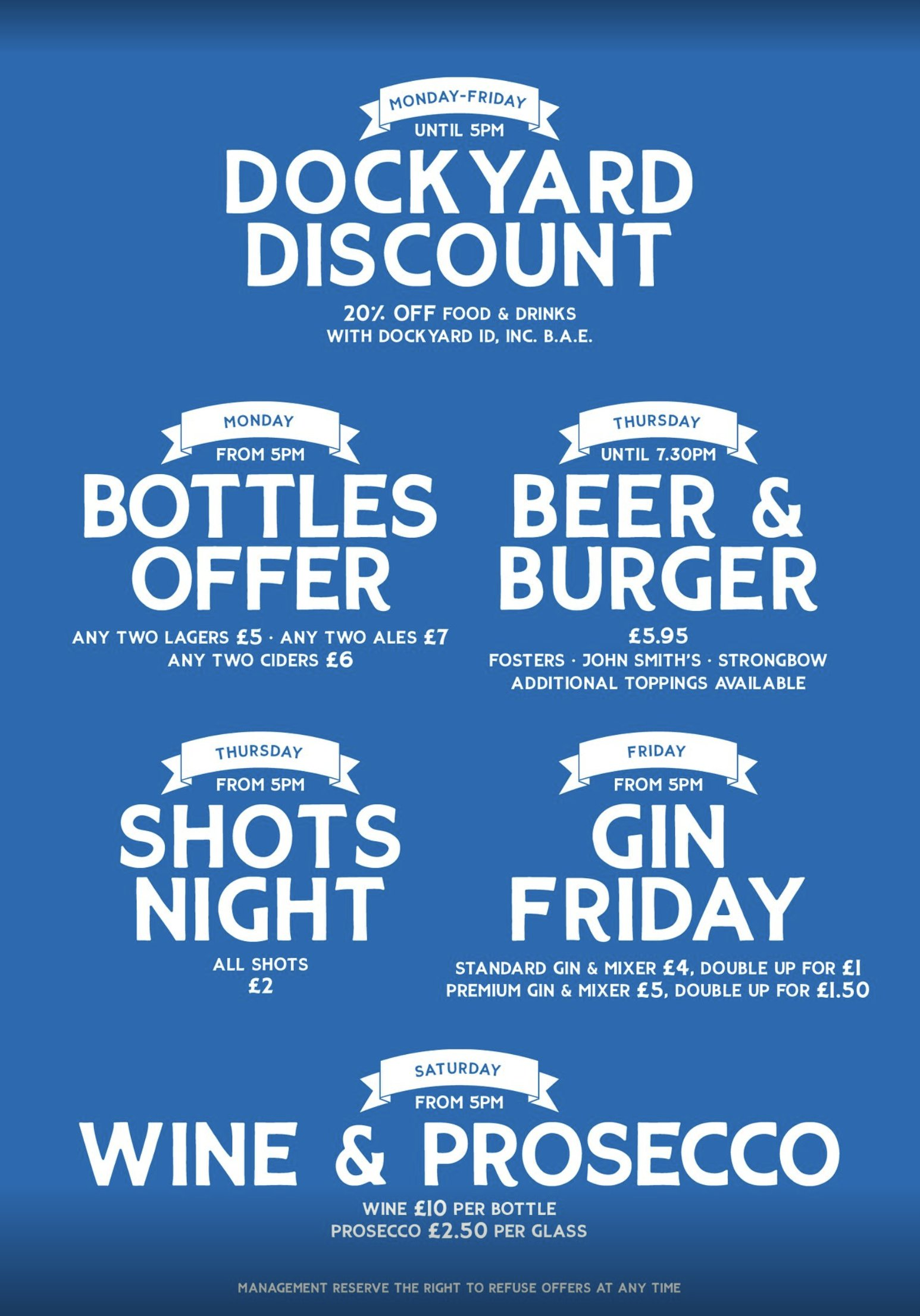 Drink Promotions In Portsmouth - The Ship and Castle - Make The Most Of The Sunshine With These Great Offers