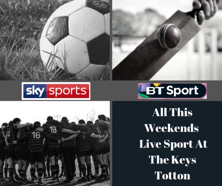 Local Pubs In Totton - The Keys -Showing All This Weekends Live Sport