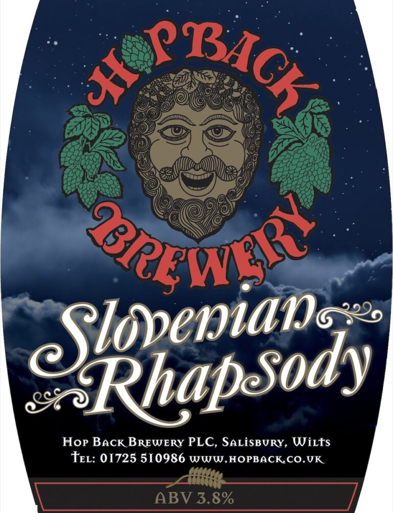 Wiltshire Breweries– New Hopback Brewery Slovenian Rhapsody 3.8% - Now Available!