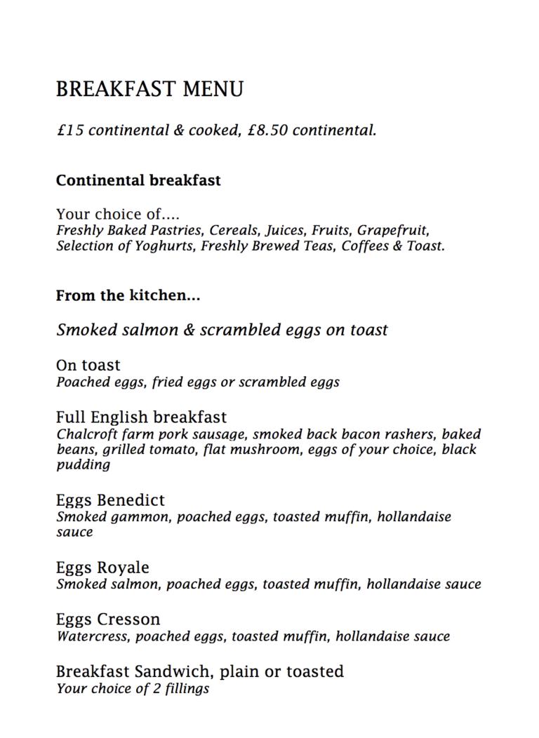 Restaurants With Breakfast In Hampshire