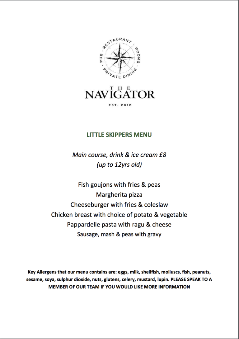 Pubs In Southampton - The Navigator Is The Perfect Spot For You To Enjoy A Delicious Meal With The Kiddies !