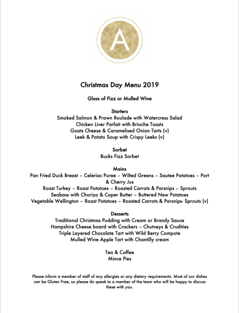 Christmas Parties In Hampshire – The Alverbank Hotel Have A Fantastic Menu For The Christmas Period !