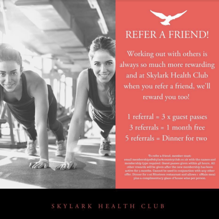 Gyms In Fareham – Have You Seen The Rewards At Skylark Golf And Country Club When You Refer A Friend For A Gym Membership ?