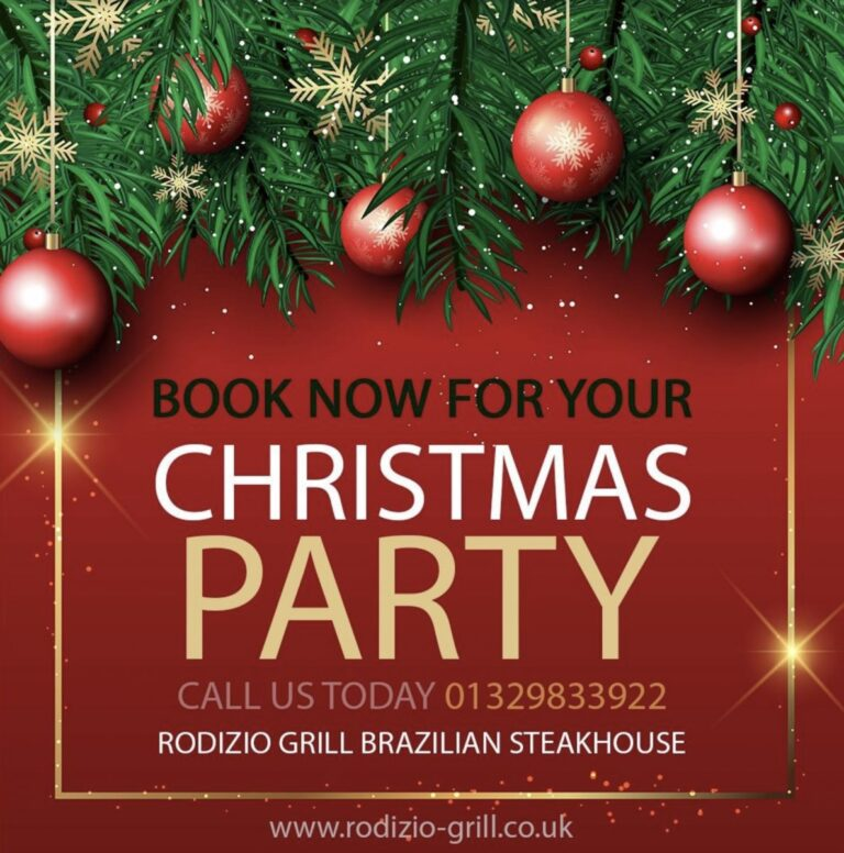 Christmas Parties In Fareham - Book Your Christmas Party At Rodizio Grill Today !