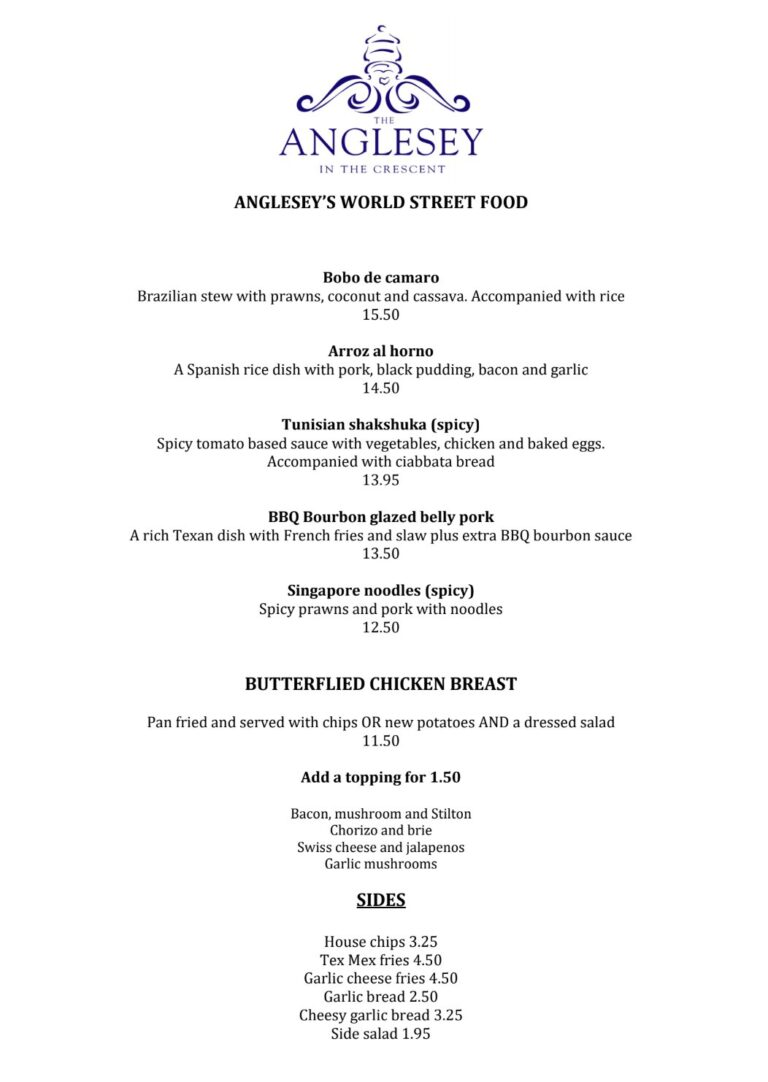 Restaurants In Gosport – Take A Look The Anglesey Hotels NEW Delicious Menu Launch!