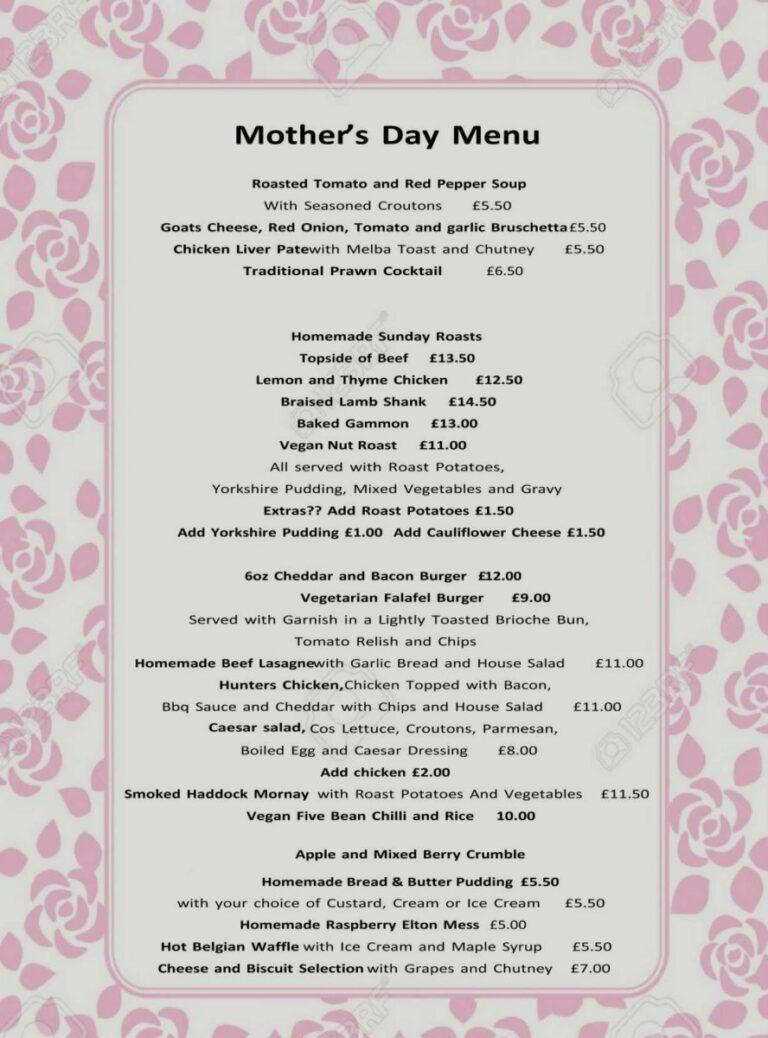 Pubs In Horndean for Mothers Day –Enjoy A Delicious Sunday Lunch At The Ship And BellThis Mothers Day