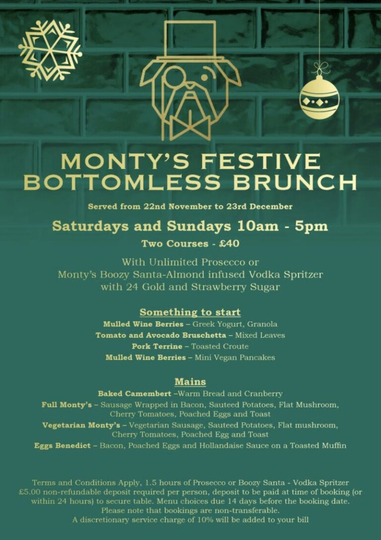 Dining Out In Southsea - Celebrate Christmas At Montys !