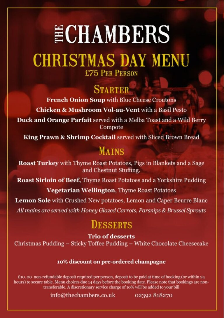 Christmas In Portsmouth - Enjoy The Festivities At Chambers !