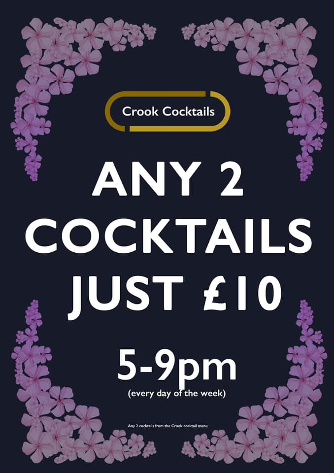 Cocktails In Portsmouth – Get 2 for £10 At The Shepherds Crook !