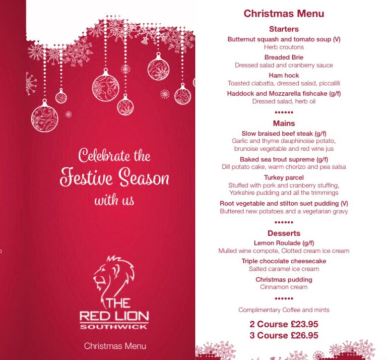Christmas In Southwick - Celebrate At The Red Lion !