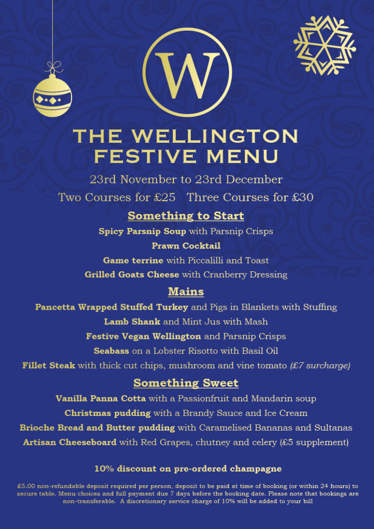 Pubs For Christmas In Old Portsmouth - Celebrate At The Wellington !