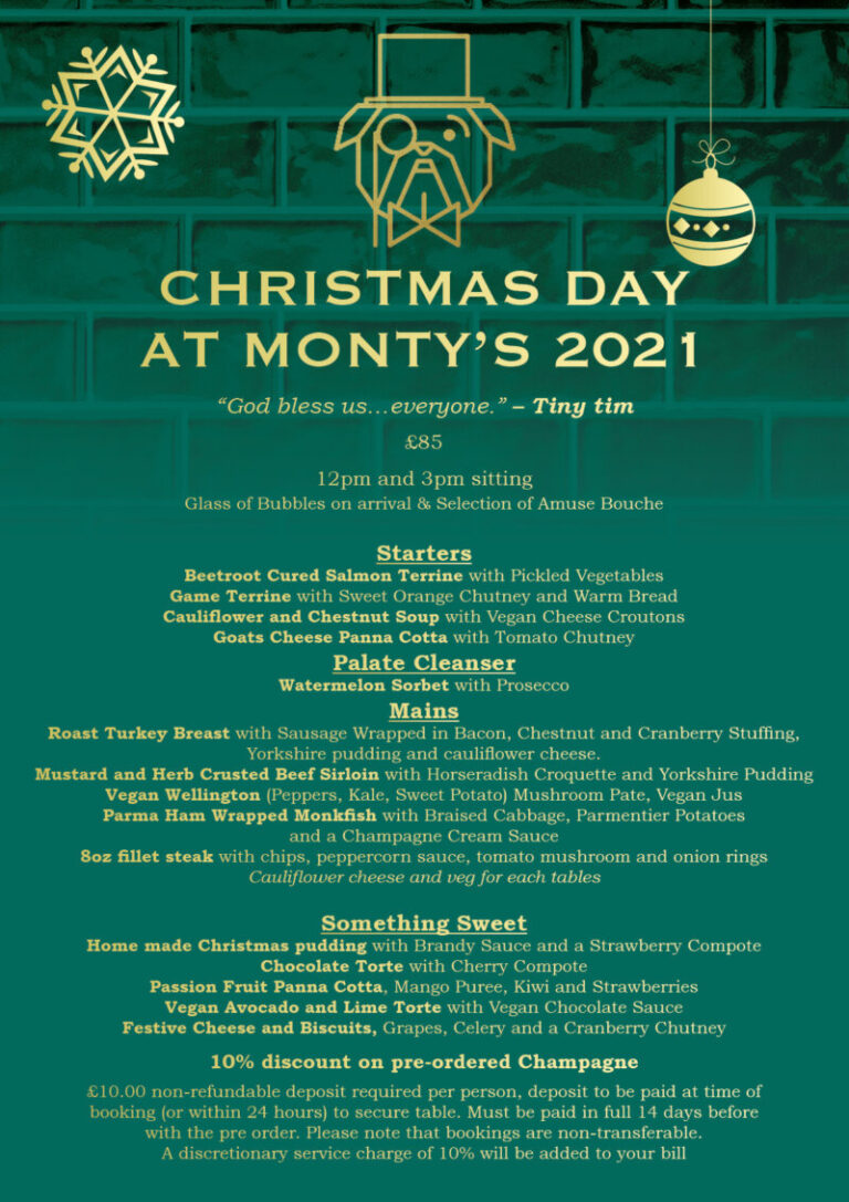 Christmas Day In Southsea - Celebrate At Montys!