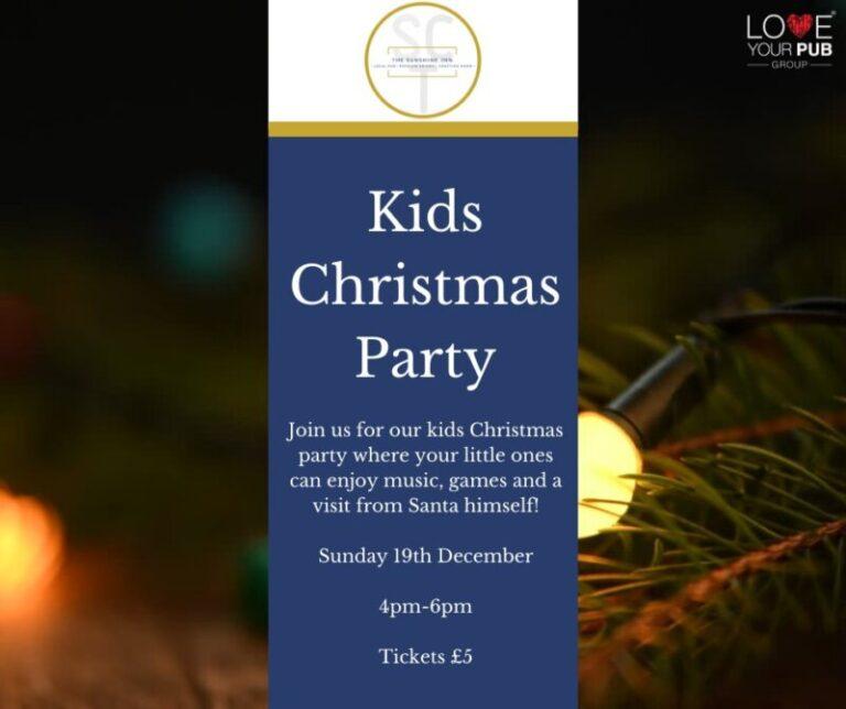 Christmas Parties For Children In Portsmouth - Visit The Sunshine Inn!